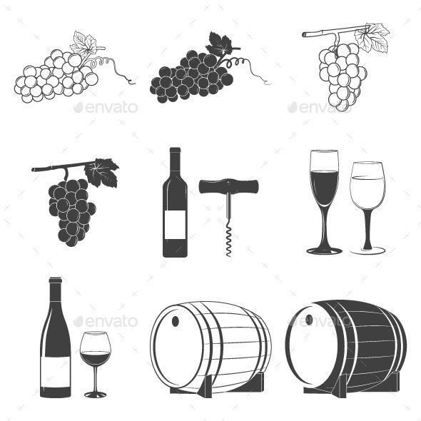 GraphicRiver Wine Icons Set 10644596