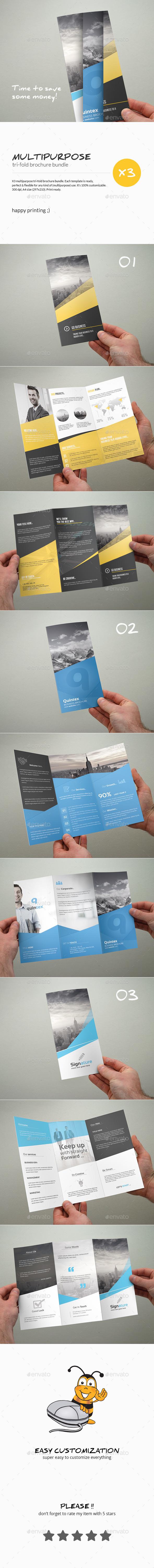 GraphicRiver Tri-Fold Brochure Bundle Multipurpose 10574867