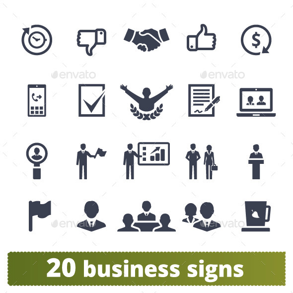 GraphicRiver Business Vector Icons 10644994