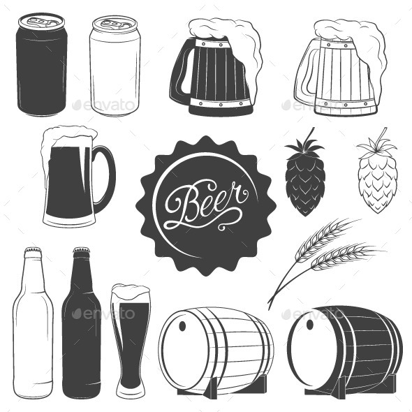 GraphicRiver Beer Icons 10645262