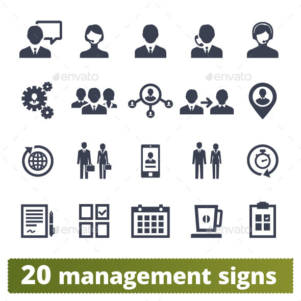 GraphicRiver Management and Business Icons 10645271