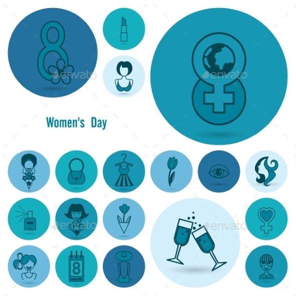 GraphicRiver Womans Day Icon Set 10645312