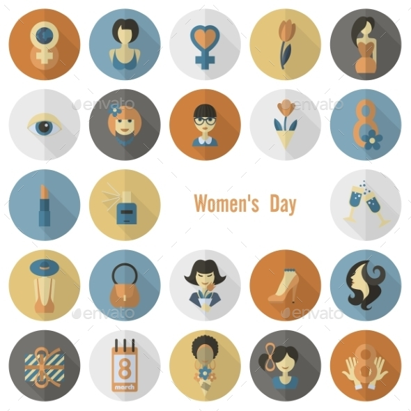 GraphicRiver Womans Day Icon Set 10645332