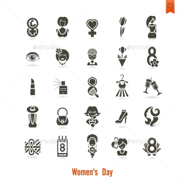 GraphicRiver Womans Day Icon Set 10645385