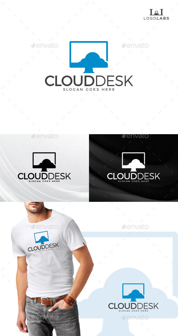 GraphicRiver Cloud Desk Logo 10645439