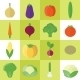 Icons with Vegetables - GraphicRiver Item for Sale