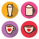 Coffee Icons Set in Color  - GraphicRiver Item for Sale