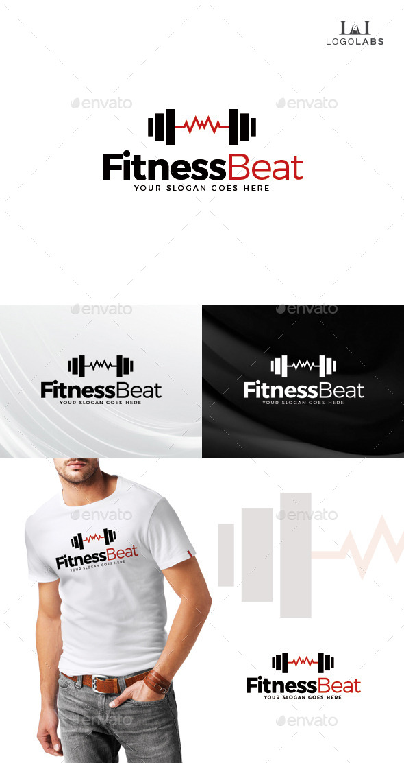 GraphicRiver Fitness Beat Logo 10645480