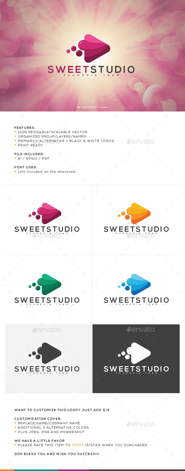 GraphicRiver Sweet Studio Logo Template 10645485