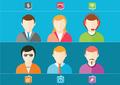 Business set of stylish avatars woman girls and man guys - PhotoDune Item for Sale