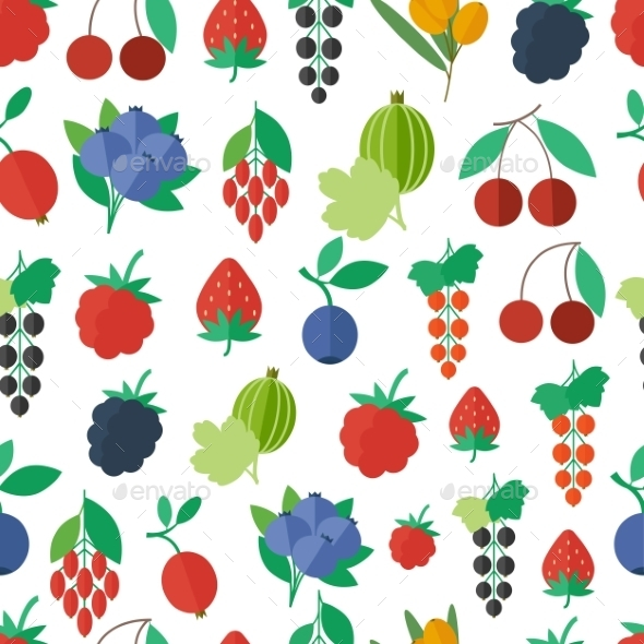 GraphicRiver Seamless Pattern with Fruits and Berries 10645491