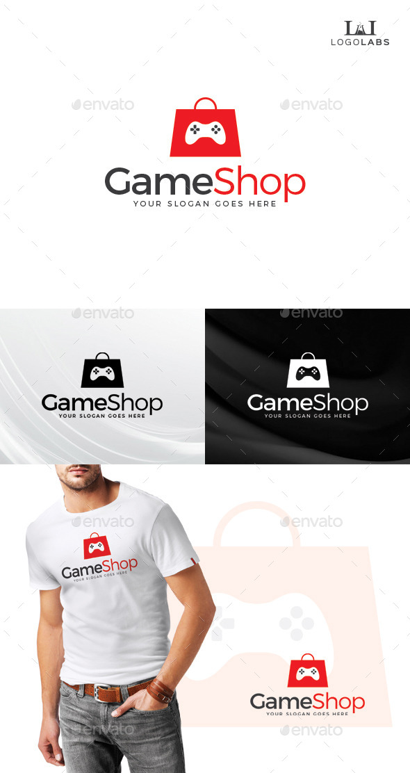 GraphicRiver Game Shop Logo 10645494