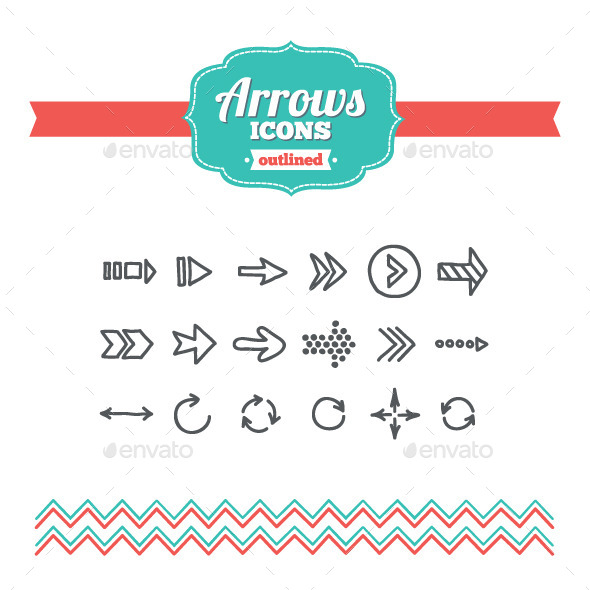 GraphicRiver Hand Drawn Arrows Icons 10645523