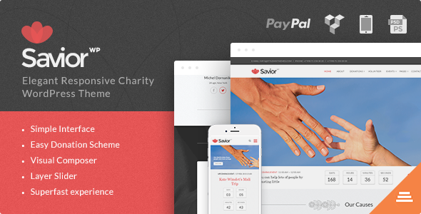 ThemeForest Savior Events & Donations WordPress Theme 10530112