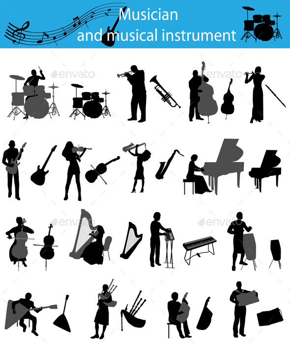GraphicRiver Musicians and Musical Instruments 10645532