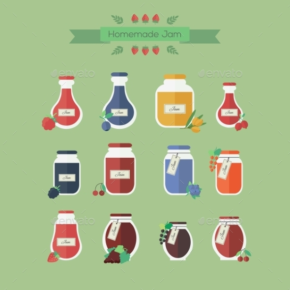 GraphicRiver Jam Jars 10645701