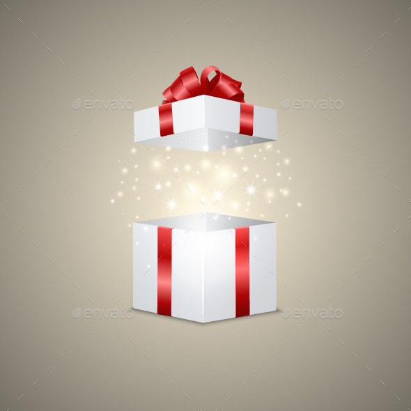 GraphicRiver Gift Box with a Magic Effect 10645763