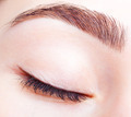Female closed eye and brows with day makeup - PhotoDune Item for Sale