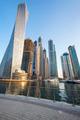 Vertical view of Skyscrapers in Dubai marina - PhotoDune Item for Sale