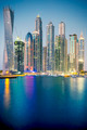 Vertical view of Skyscrapers in Dubai, special photographic processing - PhotoDune Item for Sale