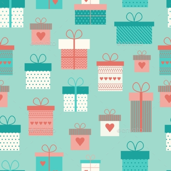 GraphicRiver Gift Boxes Pattern 10645843