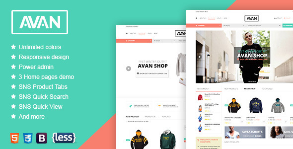 Download SNS Avan - Responsive Magento Theme nulled download