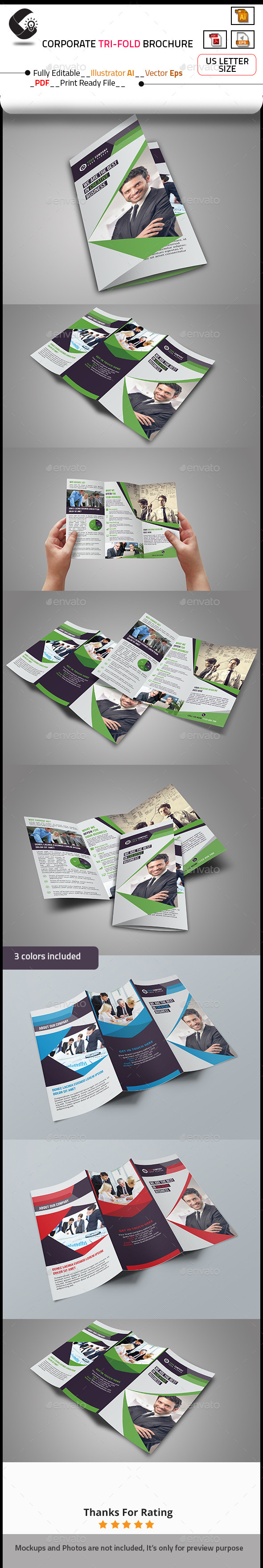 GraphicRiver Corporate Marketing Tri-Fold Brochure 10646223