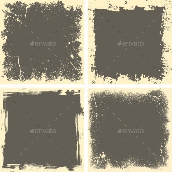 GraphicRiver Four Grunge Frames 10646454