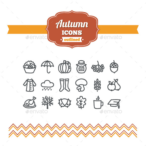 GraphicRiver Hand Drawn Autumn Icons 10646491