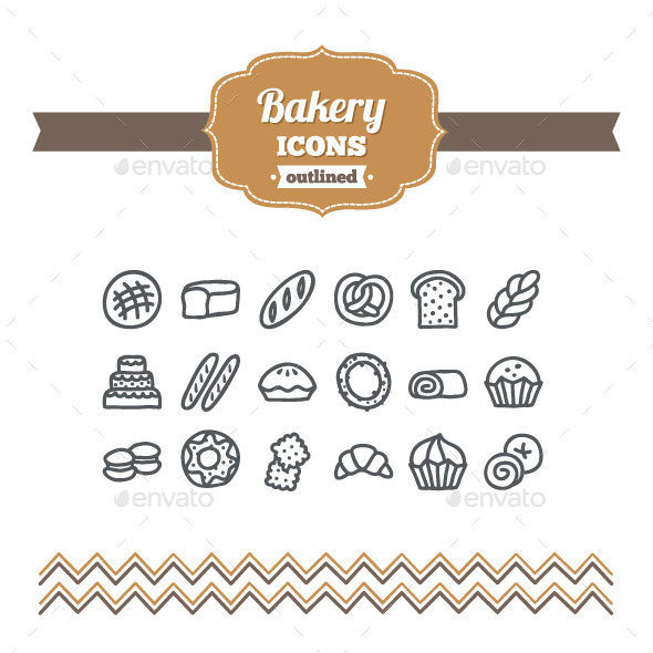 GraphicRiver Hand Drawn Bakery Icons 10646512