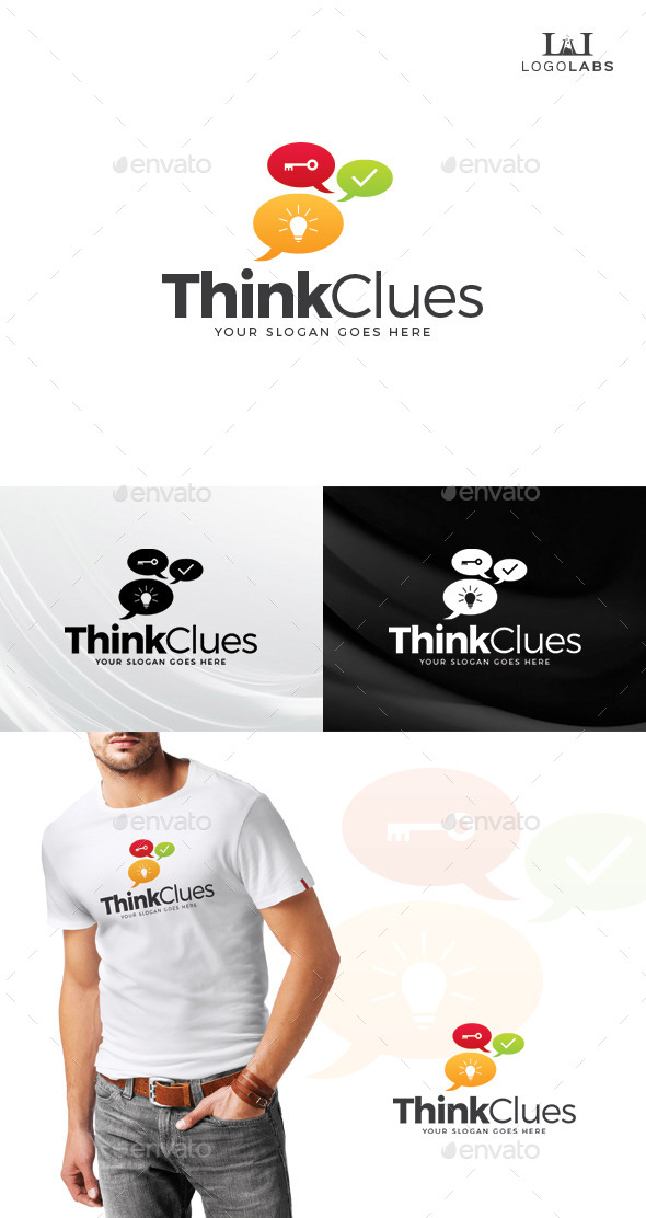 GraphicRiver Think Clues Logo 10646523