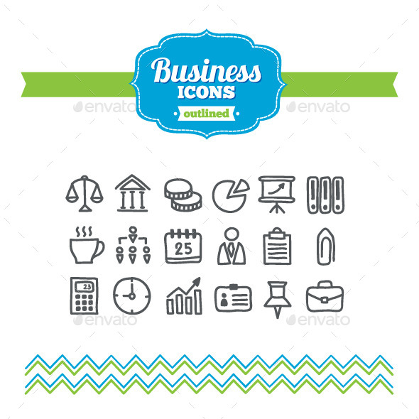 GraphicRiver Hand Drawn Business Icons 10646574