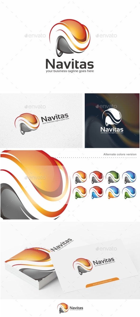 GraphicRiver Navitas Abstract Letter N Logo Template 10646576