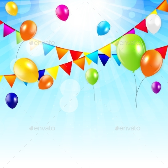 GraphicRiver Colored Balloons Background 10647018