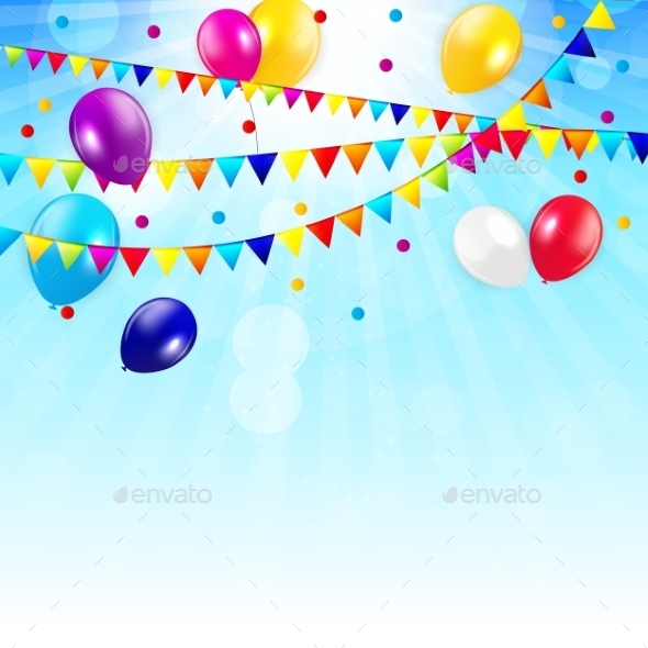 GraphicRiver Colored Balloons Background 10647025