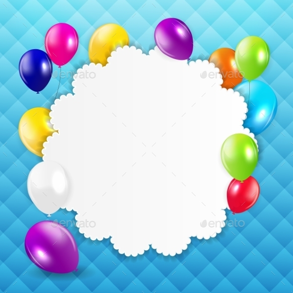 GraphicRiver Colored Balloons Background 10647100