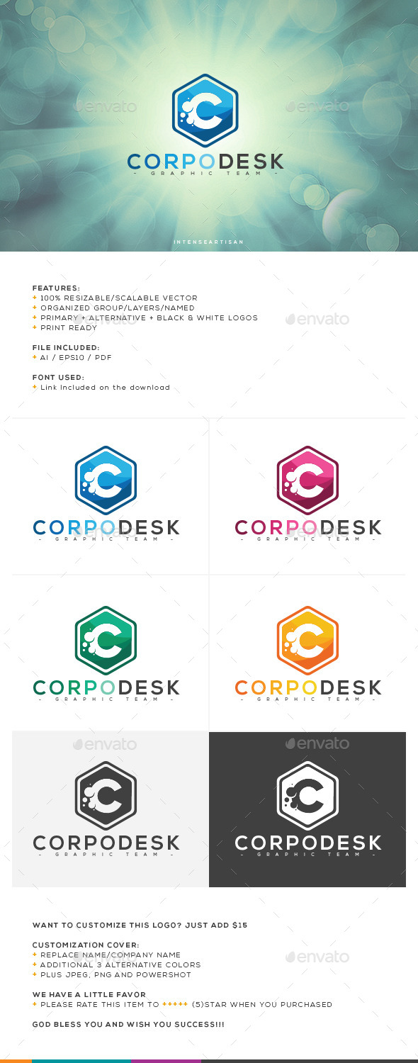 GraphicRiver Corpo Desk Logo Template 10647101
