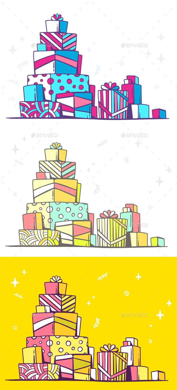 GraphicRiver Large Pile of Gifts 10647229
