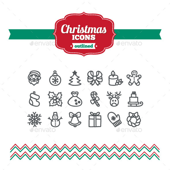GraphicRiver Hand Drawn Christmas Icons 10647231