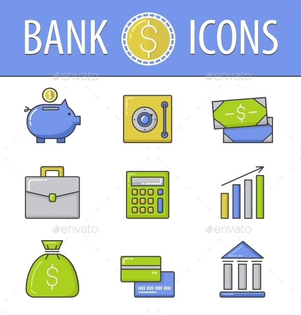 GraphicRiver Banking Icons Set 10647256