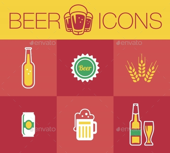 GraphicRiver Beer Icon Set 10647258