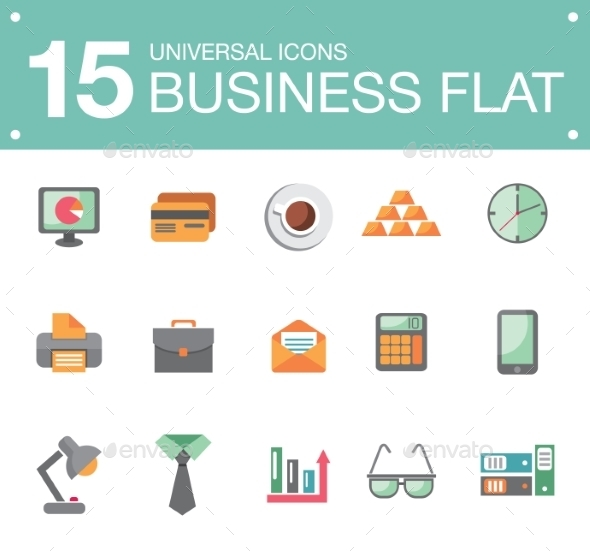 GraphicRiver Flat Business Icons 10647280