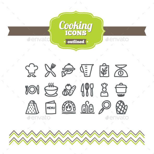 GraphicRiver Hand Drawn Cooking Icons 10647299