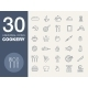 Kitchen Seamless Pattern 30 Icon Set - GraphicRiver Item for Sale