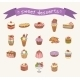 Different Sweets Icons Set  - GraphicRiver Item for Sale