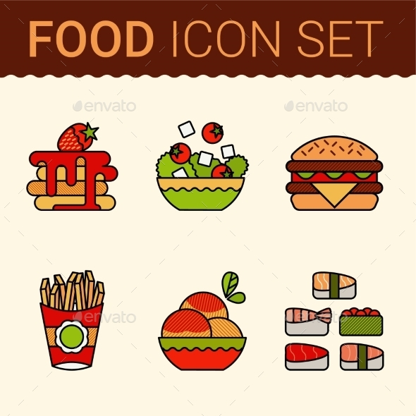 GraphicRiver Food Icons 10647327