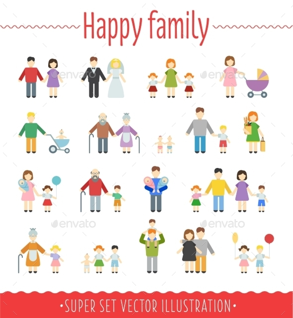 GraphicRiver Family Infographics 10647442