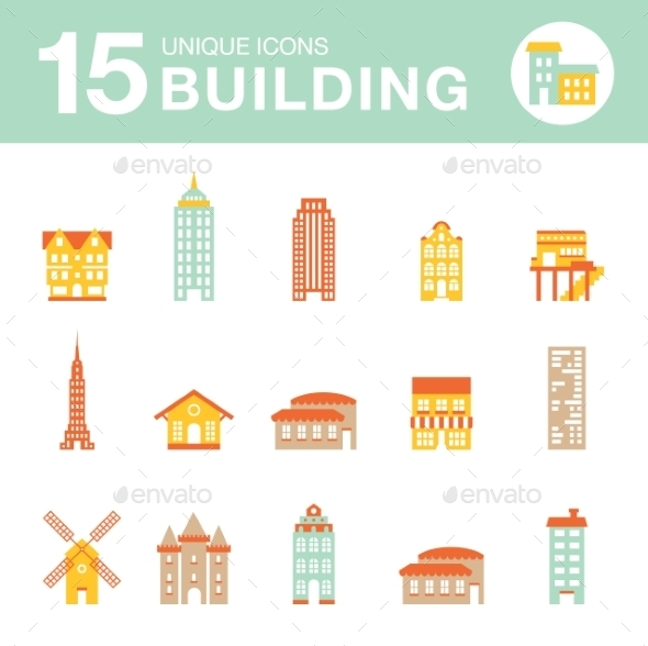 GraphicRiver Set of Icons Houses 10647485
