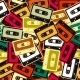 Cassettes Pattern  - GraphicRiver Item for Sale