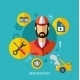 Set Flat Icons with Man of Different Professions.  - GraphicRiver Item for Sale